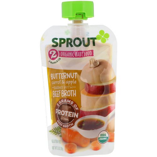 Sprout Organic, Baby Food, Stage 2, Butternut Carrot & Apple, 3.5 oz (99 g) Review