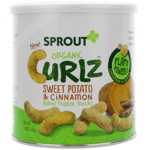 Sprout Organic, Curlz, Sweet Potato & Cinnamon, 1.48 oz (42 g) Review