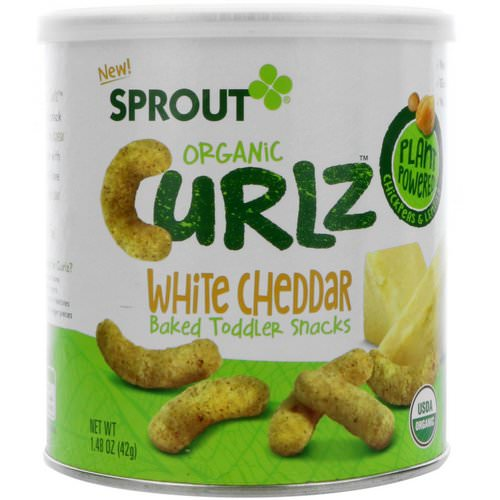 Sprout Organic, Curlz, White Cheddar, 1.48 oz (42 g) Review