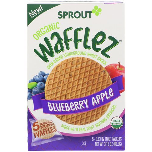 Sprout Organic, Wafflez, Blueberry Apple, 5 Packets, 0.63 oz (18 g) Review