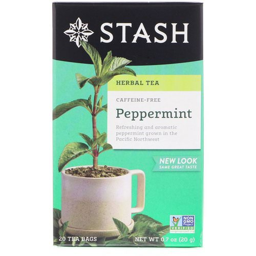 Stash Tea, Herbal Tea, Peppermint, Caffeine Free, 20 Tea Bags, 0.7 oz (20 g) Review
