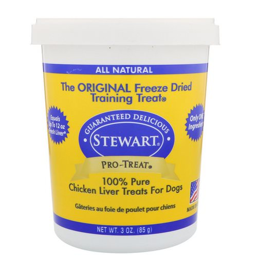 Stewart, Pro-Treat, Freeze Dried Treats, For Dogs, Chicken Liver, 3 oz (85 g) Review