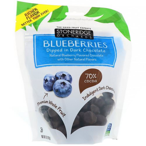 Stoneridge Orchards, Blueberries, Dipped in Dark Chocolate, 5 oz (142 g) Review