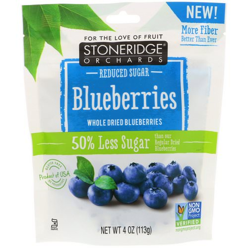 Stoneridge Orchards, Blueberries, Whole Dried Blueberries, Reduced Sugar, 4 oz (113 g) Review