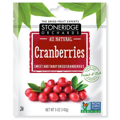 Stoneridge Orchards, Cranberries, Sweet & Tangy Dried Cranberries, 5 oz (142 g) Review