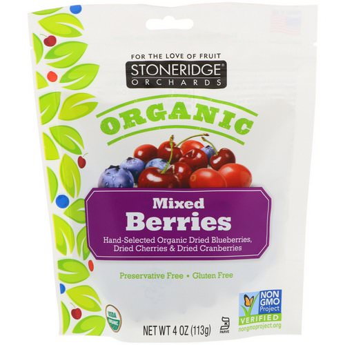 Stoneridge Orchards, Organic, Mixed Berries, 4 oz (113 g) Review