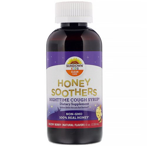Sundown Naturals Kids, Honey Soothers, Nighttime Cough Syryp, Buzzin' Berry, 4 oz (118 ml) Review