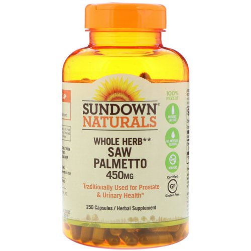 Sundown Naturals, Whole Herb, Saw Palmetto, 450 mg, 250 Capsules Review