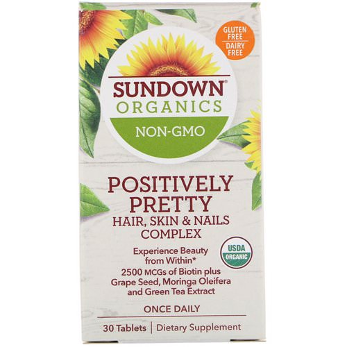 Sundown Organics, Positively Pretty, Hair, Skin & Nails Complex, 30 Tablets Review