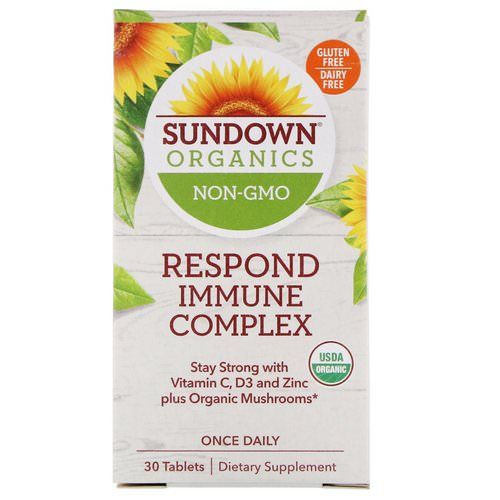 Sundown Organics, Respond Immune Complex, 30 Tablets Review