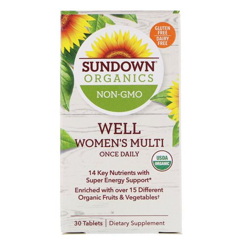 Sundown Organics, Well Women's Multivitamin, Once Daily, 30 Tablets Review