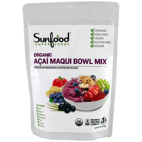 Sunfood, Organic Acai Maqui Bowl Mix, 6 oz (170 g) Review