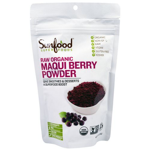 Sunfood, Raw Organic Maqui Berry Powder, 4 oz (113 g) Review