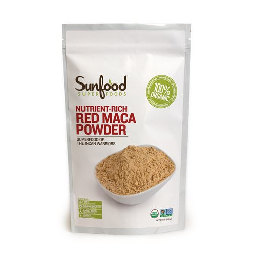 Sunfood, Red Maca Powder, Nutrient-Rich, 1 lb (454 g) Review