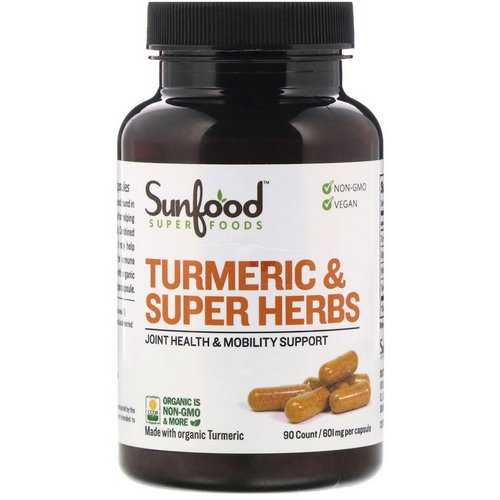 Sunfood, Turmeric & Super Herbs, 601 mg, 90 Capsules Review