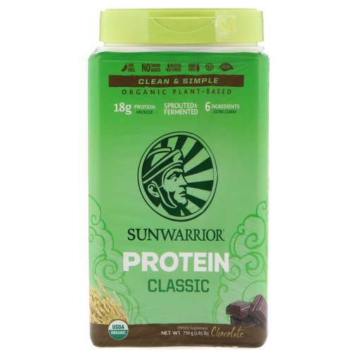 Sunwarrior, Classic Protein, Organic Plant-Based, Chocolate, 1.65 lb (750 g) Review
