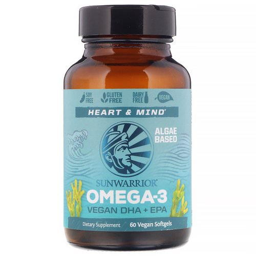 Sunwarrior, Omega-3, Vegan DHA + EPA, 60 Vegan Softgels Review