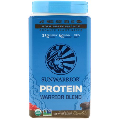 Sunwarrior, Warrior Blend Protein, Organic Plant-Based, Chocolate, 1.65 lb (750 g) Review