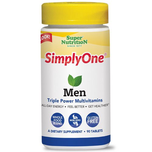 Super Nutrition, SimplyOne, Men, Triple Power Multivitamins, 90 Tablets Review