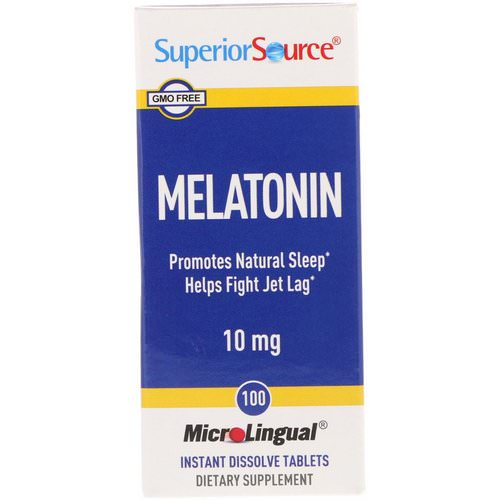 Superior Source, Melatonin, 10 mg, 100 MicroLingual Instant Dissolve Tablets Review
