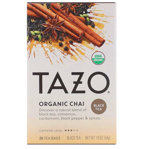 Tazo Teas, Organic Chai, Black Tea, 20 Tea Bags, 1.9 oz (54 g) Review