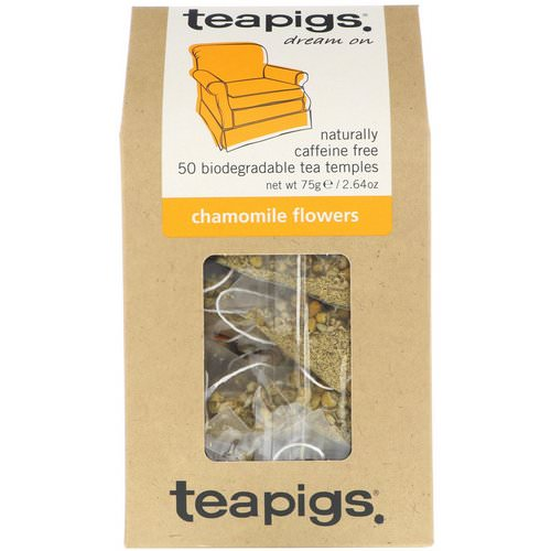 TeaPigs, Dream On, Chamomile Flowers, Caffeine Free, 50 Tea Temples, 2.64 oz (75 g) Review
