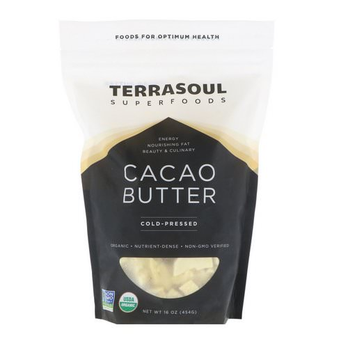 Terrasoul Superfoods, Cacao Butter, Cold-Pressed, 16 oz (454 g) Review