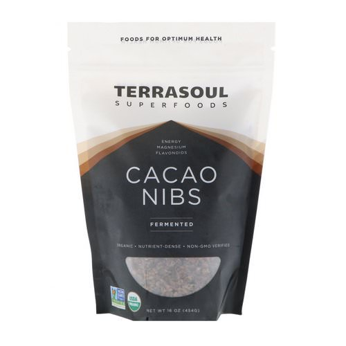 Terrasoul Superfoods, Cacao Nibs, Fermented, 16 oz (454 g) Review
