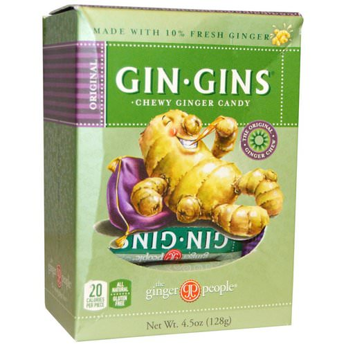 The Ginger People, Gin · Gins, Chewy Ginger Candy, 4.5 oz (128 g) Review