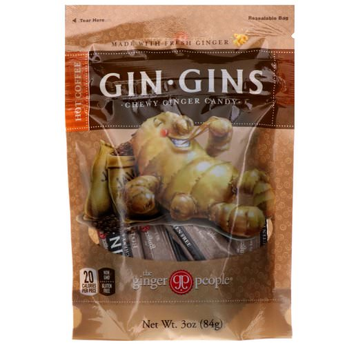 The Ginger People, Gin Gins, Chewy Ginger Candy, Hot Coffee, 3 oz (84 g) Review