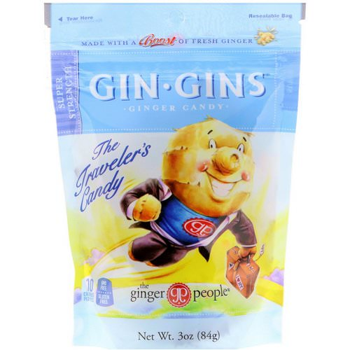 The Ginger People, Gin Gins, Ginger Candy, Super Strength, 3 oz (84 g) Review
