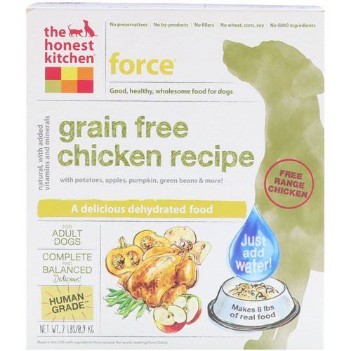 The Honest Kitchen, Force, Grain-Free Dehydrated Dog Food, Chicken Recipe, 2 lbs (0.9 kg) Review