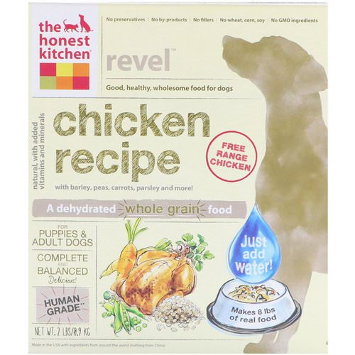 The Honest Kitchen, Revel, Dehydrated Whole Grain Dog Food, Chicken Recipe, 2 lbs (0.9 kg) Review
