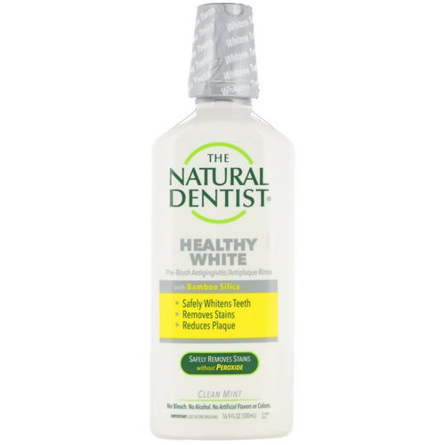 The Natural Dentist, Healthy White, Pre-Brush Antigingivitis/Antiplaque Rinse, Clean Mint, 16.9 fl oz (500 ml) Review