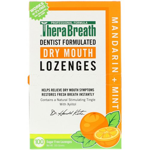 TheraBreath, Dry Mouth Lozenges, Mandarin Mint, 100 Wrapped Lozenges, 165 g Review