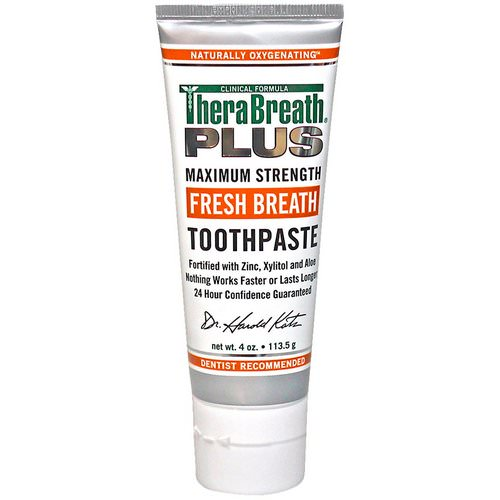 TheraBreath, Fresh Breath Toothpaste, 4 oz (113.5 g) Review