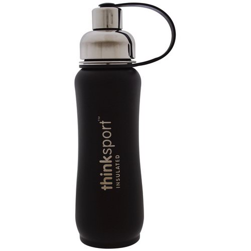 Think, Thinksport, Insulated Sports Bottle, Black, 17 oz (500 ml) Review