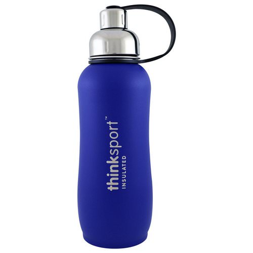 Think, Thinksport, Insulated Sports Bottle, Blue, 25 oz (750ml) Review