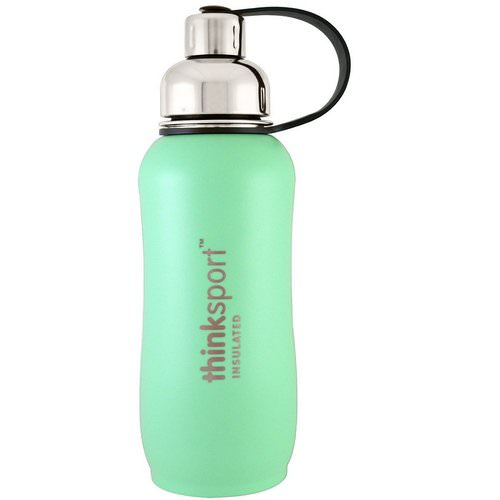 Think, Thinksport, Insulated Sports Bottle, Mint Green, 25 oz (750 ml) Review