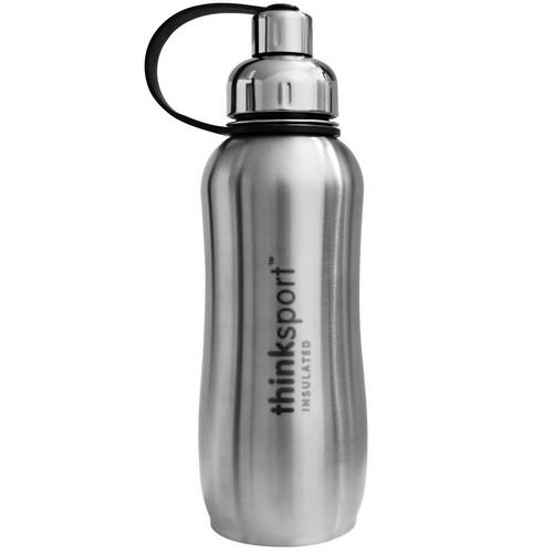 Think, Thinksport, Insulated Sports Bottle, Silver, 25 oz (750 ml) Review