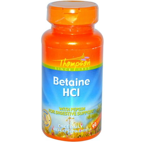 Thompson, Betaine HCl, 90 Tablets Review