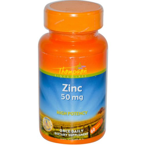 Thompson, Zinc, 50 mg, 60 Tablets Review