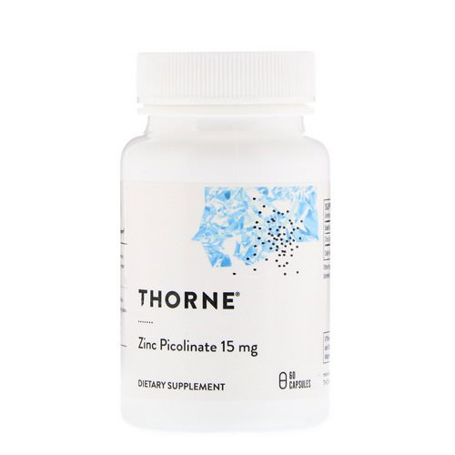 Thorne Research, Zinc Picolinate, 15 mg, 60 Capsules Review