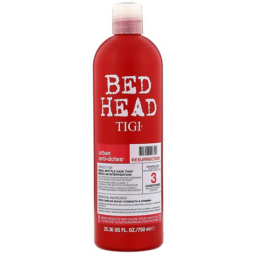 TIGI, Bed Head, Urban Anti+dotes, Resurrection, Damage Level 3 Conditioner, 25.36 fl oz (750 ml) Review