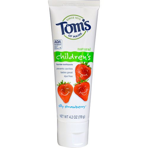 Tom's of Maine, Natural Children's Fluoride Toothpaste, Silly Strawberry, 4.2 oz (119 g) Review