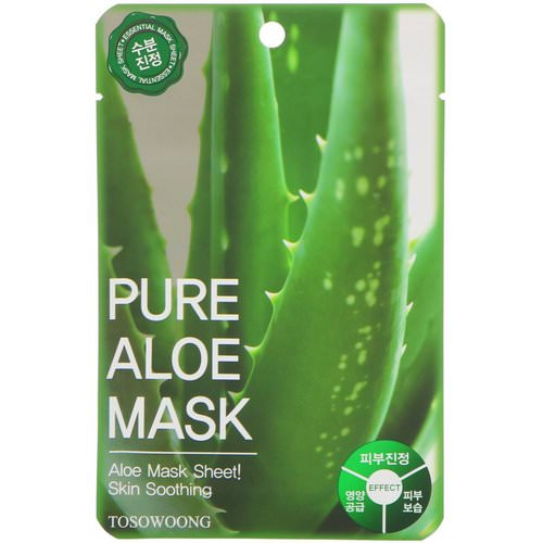 Tosowoong, Pure Aloe Mask, 10 Masks, 23 g Each Review
