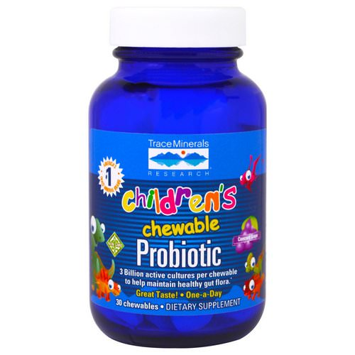 Trace Minerals Research, Children's Chewable Probiotic, Concord Grape, 30 Chewables Review