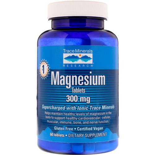 Trace Minerals Research, Magnesium, 300 mg, 60 Tablets Review