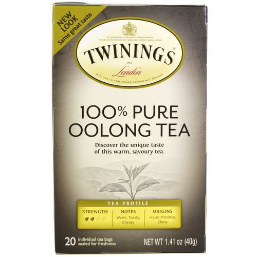 Twinings, 100% Pure Oolong Tea, 20 Tea Bags, 1.41 oz (40 g) Review
