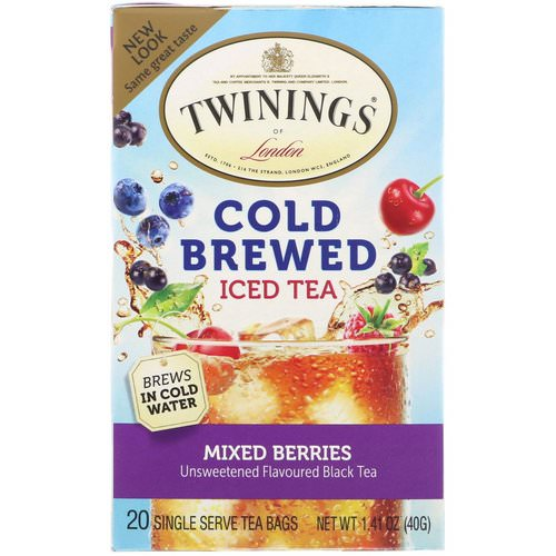 Twinings, Cold Brewed Iced Tea, Mixed Berries, 20 Tea Bags, 1.41 oz (40 g) Review